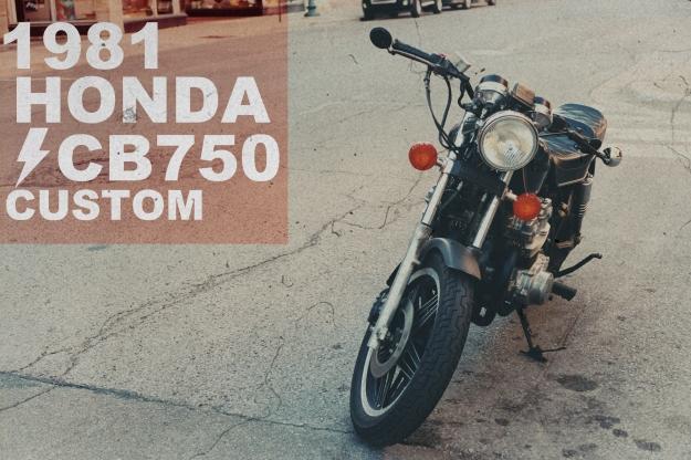 Honda CB750 Custom Poster